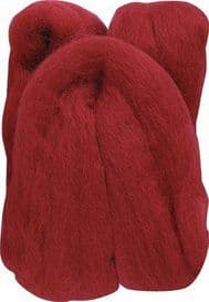 Clover Natural Wool Roving Needle Felting 7927 Red