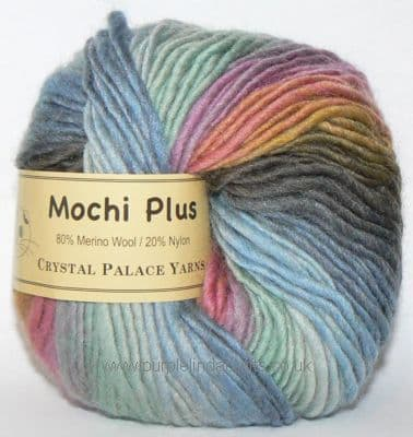 Crystal Palace Mochi Plus Wool 608 Rainbow Trout DISCONTINUED