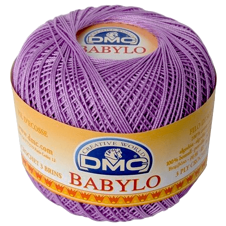 DMC BABYLO Crochet Cotton No.10 210 Lilac