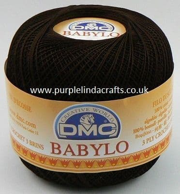 DMC BABYLO Crochet Cotton No.10 3371 Dark Brown