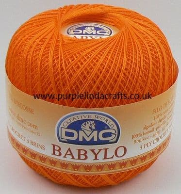 DMC BABYLO Crochet Cotton No.10 3375 ORANGE