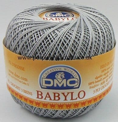 DMC BABYLO Crochet Cotton No.10 415 Silver Grey