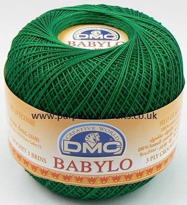 DMC BABYLO Crochet Cotton No.10 699 Emerald GREEN