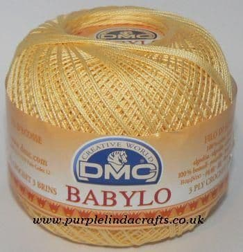 DMC BABYLO Crochet Cotton No.10 745 Pale Yellow