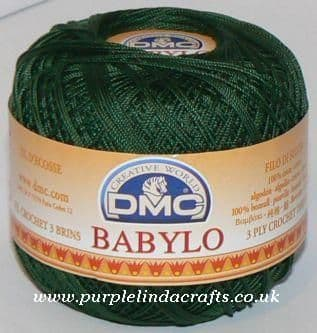 DMC BABYLO Crochet Cotton No.10 890 Dk Green