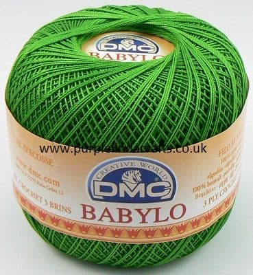DMC BABYLO Crochet Cotton No.10 906 GREEN