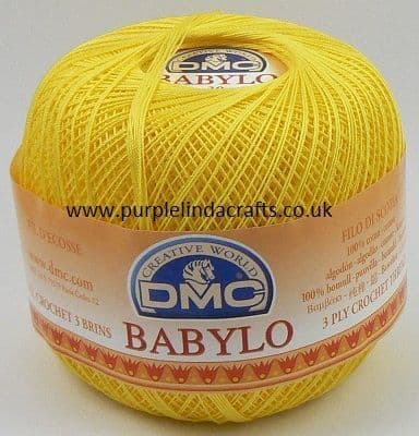 DMC BABYLO Crochet Cotton No.10 973 Yellow