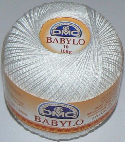 DMC BABYLO Crochet Cotton No.10 B5200 White 100g