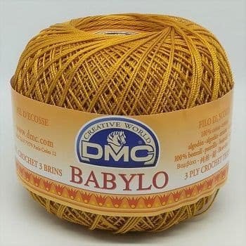 DMC BABYLO Crochet Cotton No.20 783 Gold