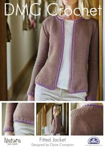 DMC Fitted Jacket Crochet Pattern 14925L/2
