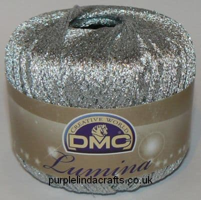 DMC Lumina Metallic Crochet Thread L168 Silver