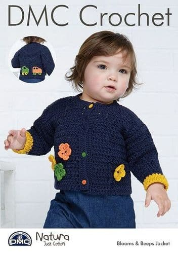 DMC Natura Blooms & Peep Jacket Crochet Pattern