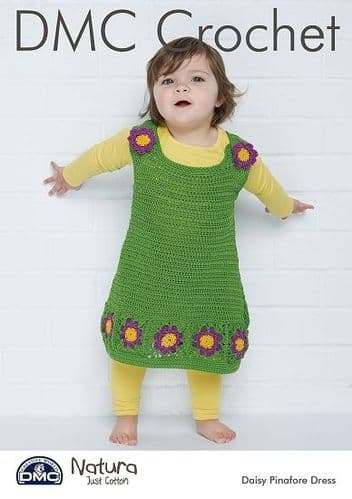 DMC Natura Daisy Pinafore Dress Crochet Pattern