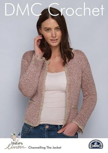 DMC Natura Linen Channelling The Jacket Crochet Pattern