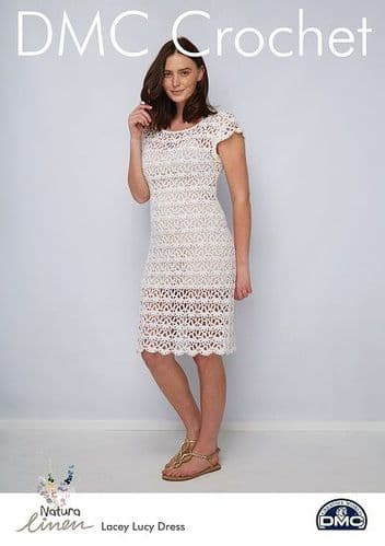 DMC Natura Linen Lacey Lucy Dress Crochet Pattern