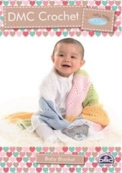 DMC Natura Tiny Tatty Teddy Baby Blanket Crochet Pattern 15285
