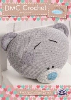 DMC Natura Tiny Tatty Teddy Cuddly Cushion Crochet Pattern 15284