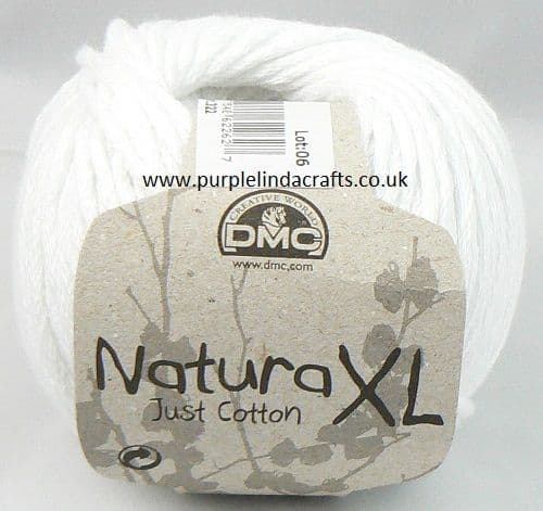 DMC Natura XL Just Cotton Super Chunky Yarn 01 White