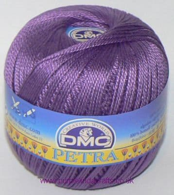 DMC PETRA No.3 Crochet Cotton 53837 Violet Purple