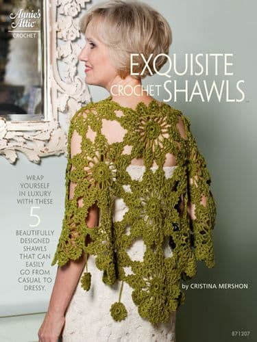 Exquisite Crochet Shawls Pattern Book AA 871207 DISCONTINUED