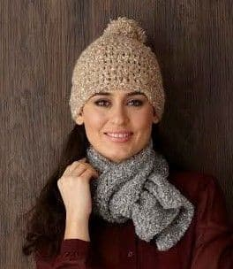 FREE PATTERN Sirdar Bouffle Crochet HAT and SCARF