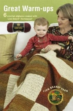 Great Warm Ups Afghans Crochet Pattern Book A5 75279 DISCONTINUED