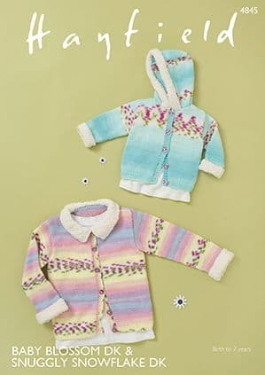 Hayfield Baby Blossom DK Jackets Knitting Pattern 4845