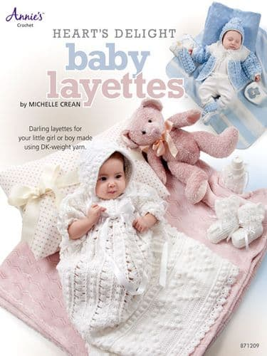 Heart's Delight Baby Layettes Crochet Pattern Book AA 871209 DISCONTINUED
