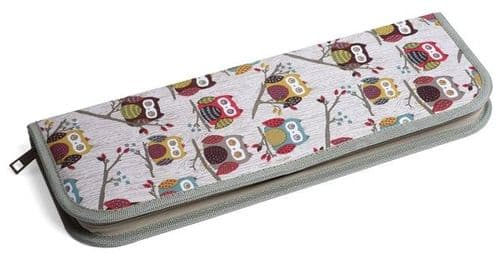HOOT Owl Bamboo Knitting Needle Set - Knit Pin Zip Case (Filled)