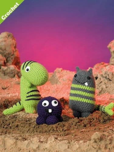 James C Brett DK Magic Monsters 1 Crochet Pattern JB410
