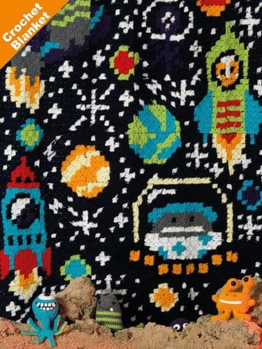 James C Brett DK Space Blanket Crochet Pattern JB412