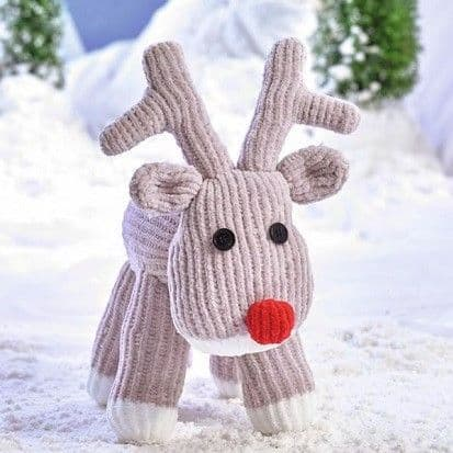 James C Brett Flutterby Rudolph Knitting KIT