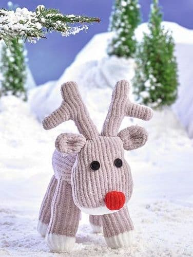 James C Brett Flutterby Rudolph Knitting Pattern JB460