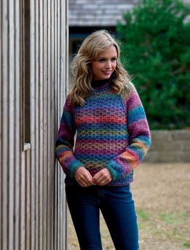 James C Brett Marble Chunky Sweater Knitting Pattern JB553