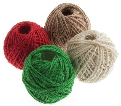Jute Twine Balls Red Green Natural and Light Natural CHRISTMAS