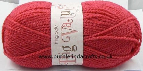 King Cole Big Value CHUNKY 1749 ROSEHIP Pink DISCONTINUED