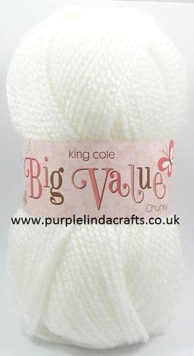 King Cole Big Value CHUNKY 822 White