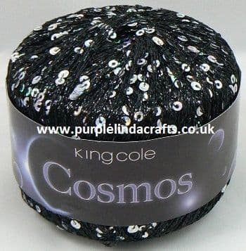 King Cole COSMOS Glitter Sequin Yarn 1101 Star Gazer