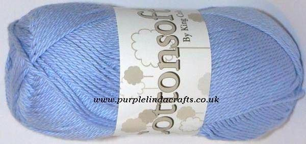 King Cole Cottonsoft DK 714 SKY Blue