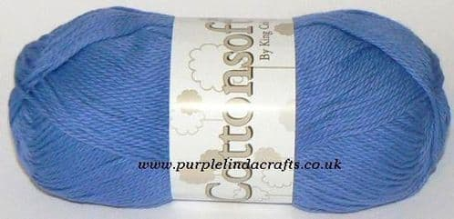 King Cole Cottonsoft DK 718 SAXE Blue