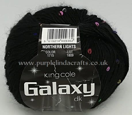 King Cole Galaxy DK Sequin Yarn 1715 Northern Lights DISCONTINUED