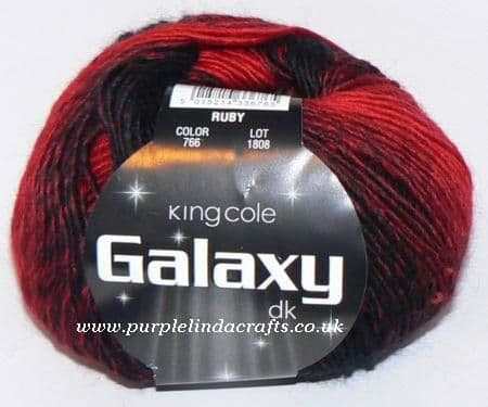 King Cole Galaxy DK Sequin Yarn 766 Ruby DISCONTINUED