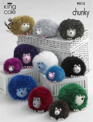 King Cole HEDGEHOG Tinsel Knitting Pattern 9015