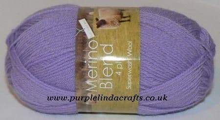 King Cole Merino 4ply Wool 927 Pale Lavender DISCONTINUED