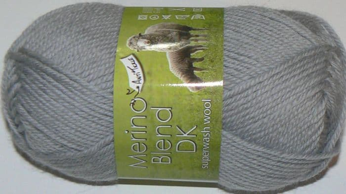 King Cole Merino Blend DK Superwash Wool 36 Silver DISCONTINUED