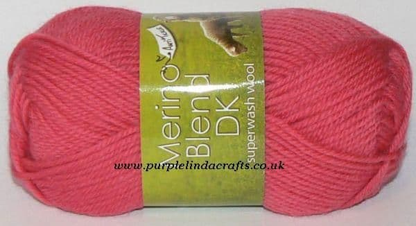 King Cole Merino Blend DK Superwash Wool 858 Pink DISCONTINUED