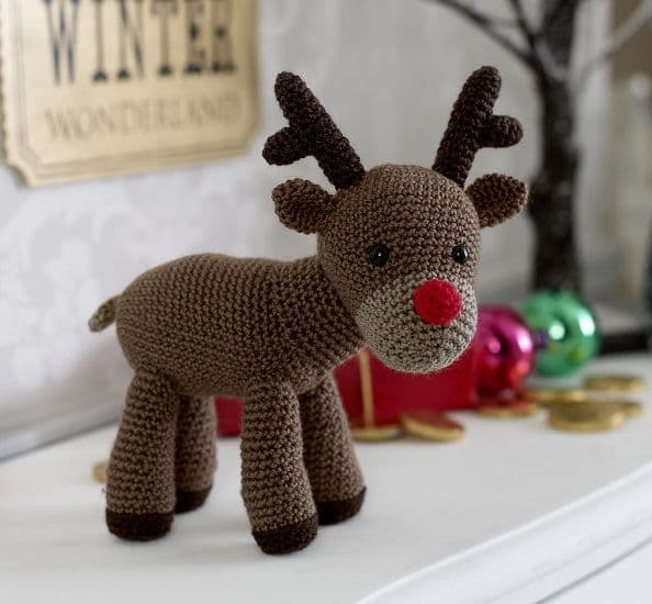 King Cole RUDOLPH Reindeer Toy Yarn Pack Crochet Kit