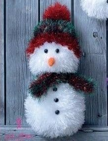 King Cole SNOWMAN Tinsel Knitting KIT Christmas