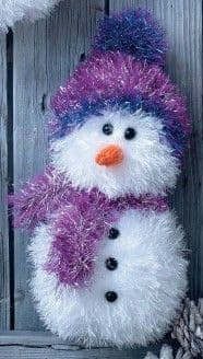 King Cole SNOWMAN Tinsel Knitting KIT SPARKLER