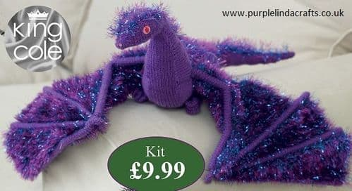 King Cole Tinsel DRAGON Knitting KIT Porphyra